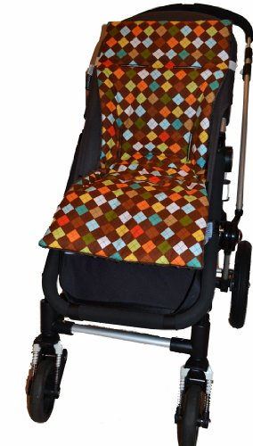 Tivoli Couture Plush Reversible Stroller Liner, Argyle Chocolate by Tivoli Couture