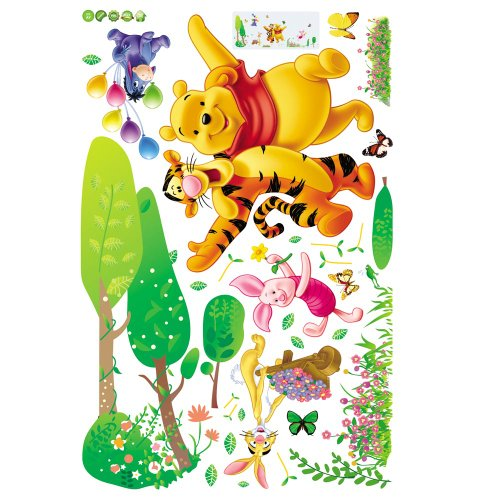 Gadfly- Pooh Partner Removable Wall Decor Decal Stickers.