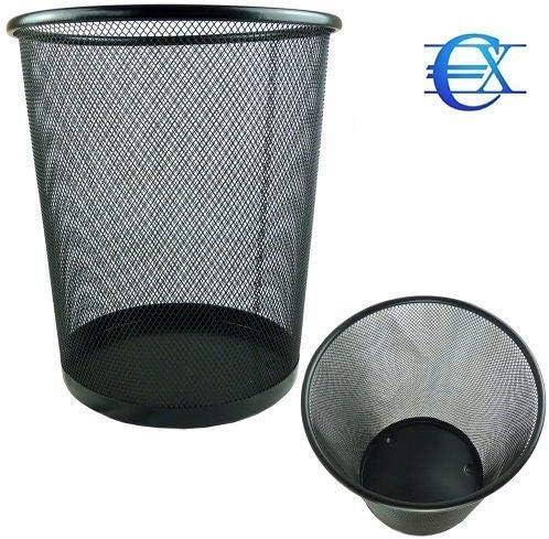 Papelera Negra Papelera Circular de Rejilla met/álica Pack de 8 Unidades 27 x 24 cm 10 L EUROXANTY/® Papeleras de Oficina