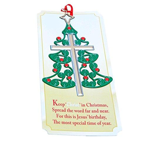 Fun Express Christmas Tree Cross Ornaments (Novelty Commemorative)