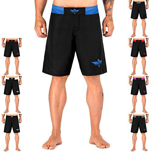 Elite Sports NEW ITEM Black Jack Series Fight Shorts,Blue,Small