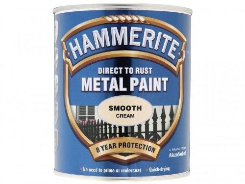 Hammerite Metal Paint Smooth 750ml, Cream ()