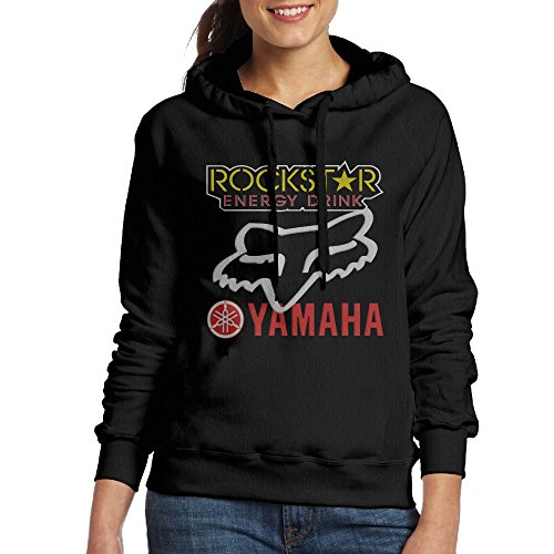 Price comparison product image Rockstar Energy Yamaha Fox Racing Women's Crewneck Hoodies Black