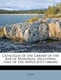 Catalogue of the Library of the Bar of Montreal, Delisle, 1175524719