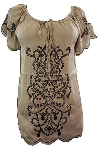 LUCCA Blusa de diseño de Rombos de Destello de luz Brillante y Dorado de Detalle de