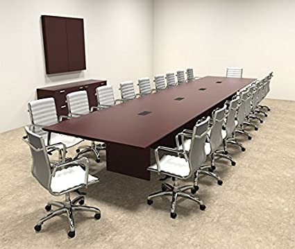 Amazoncom Wood Modern Rectangular Shape Feet Conference Table - 20 foot conference table
