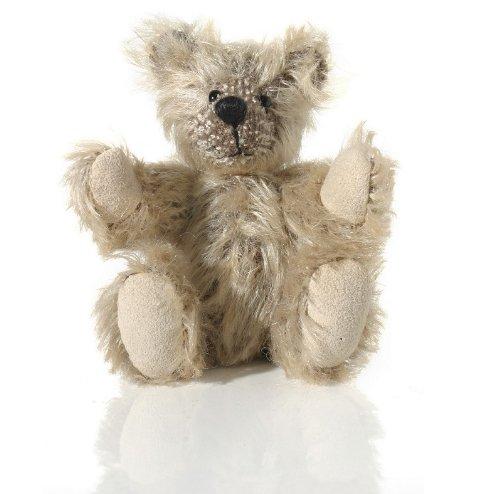 """World of Miniature Bears 4"""" Mohair Pellet Bear Latte #5061 Handmade Collectible Miniature"""