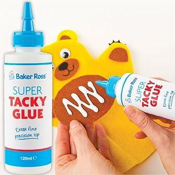 baker ross super tacky glue multipurpose dries clear fine nozzle