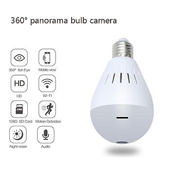 Luces LED Inalámbricas Fisheye De La Visión Nocturna - Bombillas De La Cámara De 360