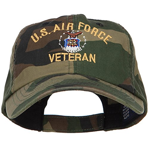 US Air Force Veteran Military Embroidered Enzyme Camo Cap - Camo ()