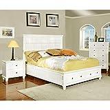 Furniture Best Deals - Furniture of America Rowena Adjustable Headboard, Full-to-Queen, White