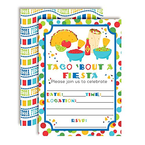 Taco Bout a Party Mexican Fiesta Party Invitations, 20 5
