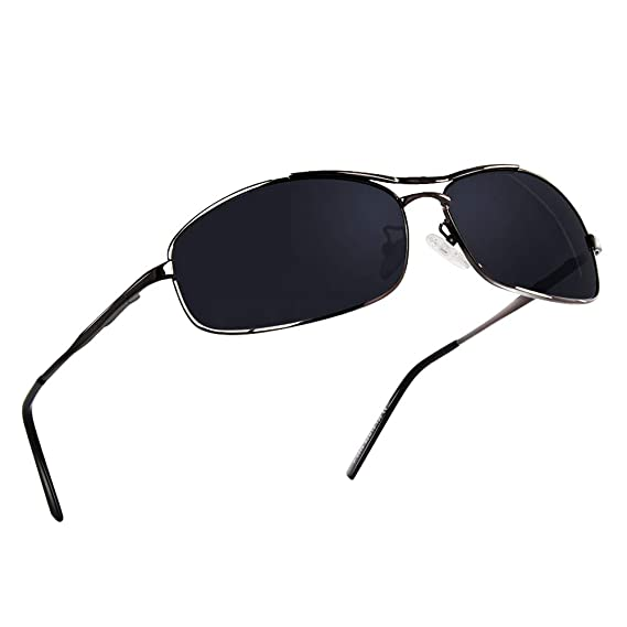 NWOUIIAY Gafas de Sol de Marco de Aluminio de Aleación de Magnesio Estilo Deportivo con Lente