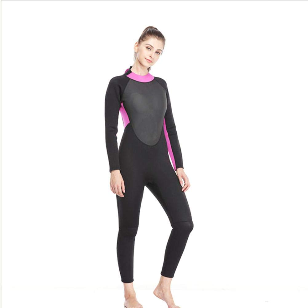 S 3mm Neoprene Diving Suit Women, Full Body Cover Thin Wetsuit,Perfect for Swimming Scuba Diving Snorkeling SurfingOne Piece