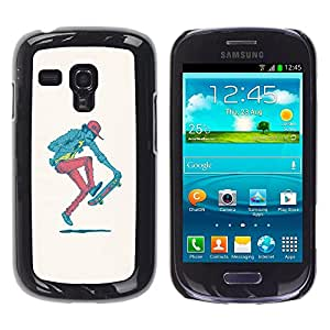 Stuss Case / Funda Carcasa protectora - Hipster Skater - Pop Art - Samsung Galaxy S3 MINI 8190