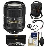 Nikon 18-300mm f/3.5-6.3G VR DX ED AF-S Nikkor-Zoom Lens with Case + 3 UV/CPL/ND8 Filters + Kit for D3200, D3300, D5300, D5500, D7100, D7200 Cameras