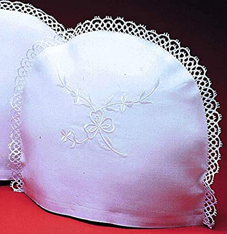 Handmade Black Fabric Tea Cosy with White Butterfly Design and Hem