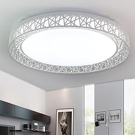 Lilamins Lámpara de techo led luminosos salón con sencillas ...