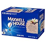Maxwell House Vanilla Hazelnut Coffee, Medium Roast, K-Cup Pods, 12 count (Pack of 6)