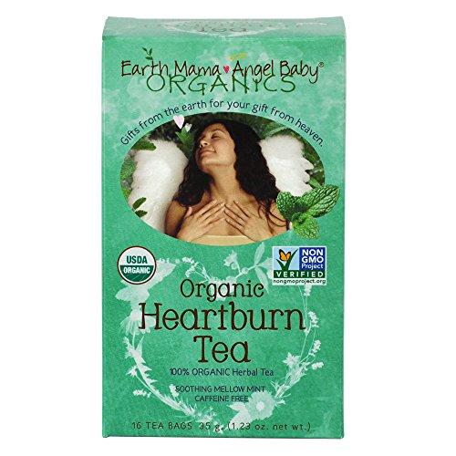 Sauvetage naturelle terre Mama ange bébé bio brûlures d'estomac thé sans OGM pour les brûlures d'estomac grossesse et longtemps après 16 sachets/boîte (pack de 3)
