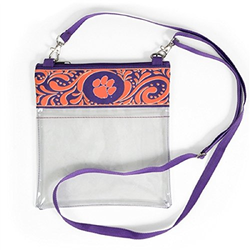 Desden Clemson Tigers Clear Gameday Crossbody Bag by Desden