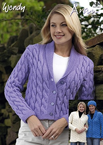 f1db86550de8 Image Unavailable. Image not available for. Colour  Wendy Ladies Cardigans  Traditional Wool Knitting Pattern ...