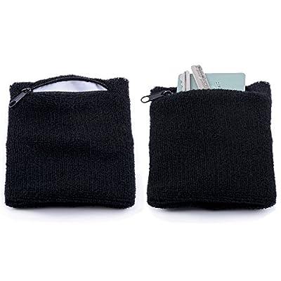 The Friendly Swede Zipper Sweatband Wristband (2 Pack)