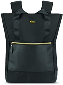 Solo New York Women's Ladies Tote Backpack, Black/Gold