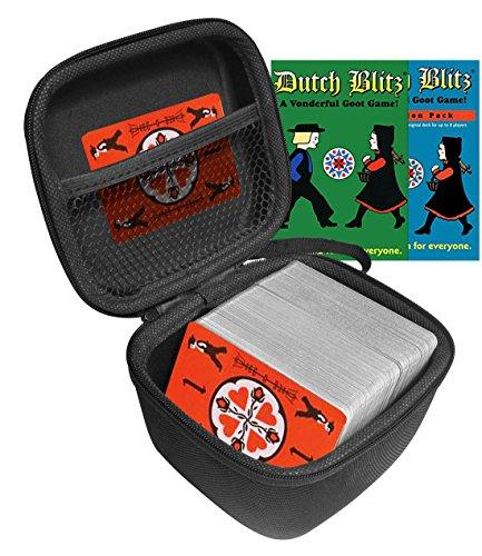 FitSand(TM) Dutch Blitz Original and Expansion Pack Set Card Game Case, Travel Zipper Carry EVA Hard Case Best Protection