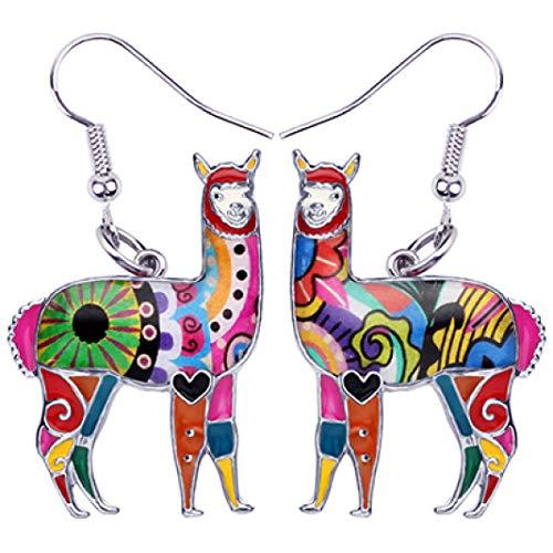 Nadri Bezel Earrings - Ethnic Drop Dangle Earring Enamel Alloy Animal Earrings Fashion Lightweight Casual Jewelry