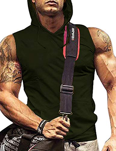 Men Athletic Shirt Funny Workout Shirts for Men Polyester Spandex T Shirt Army Green XL