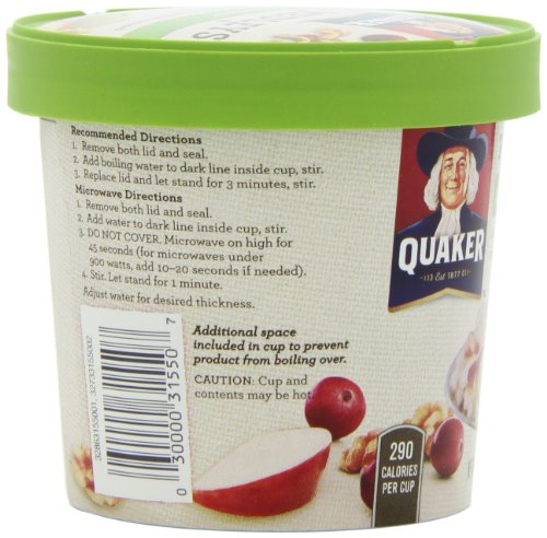030000315507 - Quaker Real Medleys Oatmeal+, Apple Walnut, Instant Oatmeal+ Breakfast Cereal, (Pack of 12) carousel main 8