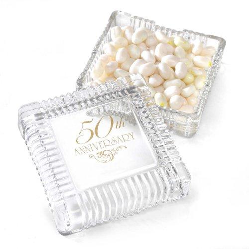 (Hortense B. Hewitt Wedding Accessories 50th Anniversary Square Candy Dish)