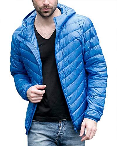Veste Saphir Compressible Manteau Capuche Doudoune Et Homme Chaud Bleu À Blouson Pour Léger Hiver Rembourrage vwWRqBAO4