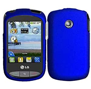 Hard Blue Case Cover Faceplate Protector for LG 800G TracFone / Net10 with Free Gift Reliable Accessory Pen