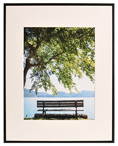 Artcare By Nielsen Bainbridge 16x20 Matte Black Archival Studio Collection Frame With White Mat For 11x14 Image #FA1921. Includes: UV Glazed Glass and Anti Aging - Uv Collection