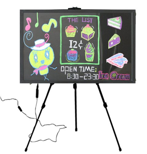 """LED Writable Menu Board Message Board Sign 35"""" X 23"""" with 1 Markers Pen - Electronic Gifts"""