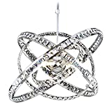 MEEROSEE MD86263MN Crystal Modern Sphere Orb Globe Cage Round Pendant Fixtures Dining Room Contemporary Ceiling Lights Chandelier Review