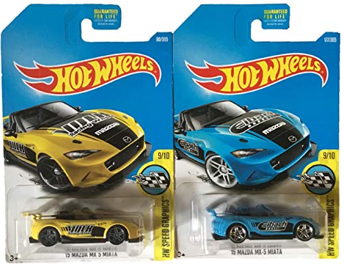 Hot Wheels 2017 '15 Mazda MX-5 Miata 2 Pack (Best Wheels For Mx5)