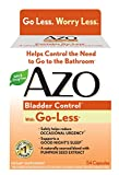 AZO Bladder Control with Go-Less Dietary Supplement, Pumpkin Seed Extract, Soy Germ Extract, GMO Free, Gluten Free, Yeast Free, Synthetic Color Free, 72 Count