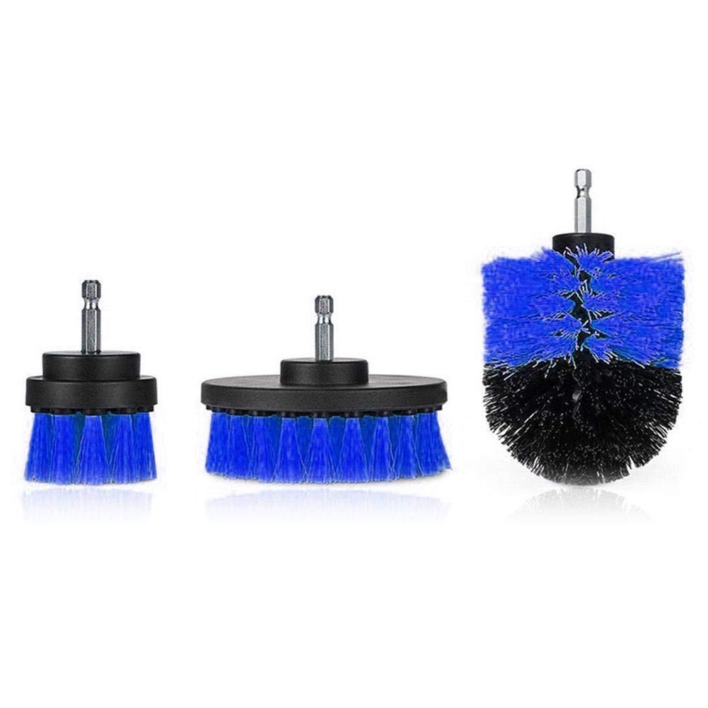 Heavy Duty Stiff Scrub Brush Reinigung Kit (3PCS), Drill Powered Reinigung Rotary Electric Brush Kit mit langen Reichweite Anlage für Auto, Bad, Waschbecken, Arbeitsplatte, Waschküche Reinigung Waschküche Reinigung Hete-supply
