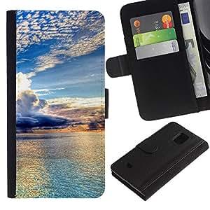 KingStore / Leather Etui en cuir / Samsung Galaxy S5 Mini, SM-G800 / Naturaleza Hermosa Forrest Verde 98