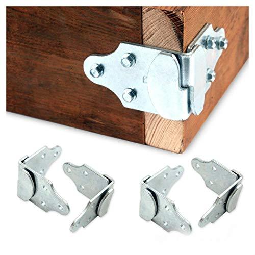 (8 PC Utility Trailer Wood Sides Latch Rack Stake Body Gates Corner Brackets)