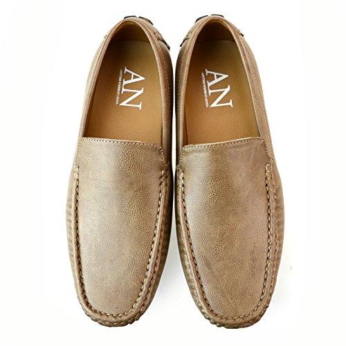 Lucius Une Chaussures Mocassins Pour Hommes Glissent Sur Des Chaussures Dopéra De Plaine Dorteil Entraînant Des Mocassins Bit 1770 Marron