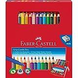 Faber-Castell 110913 - Geschenkbox, mit 12 Jumbo Grip Farbstiften und 10 Colour Marker Filzstiften