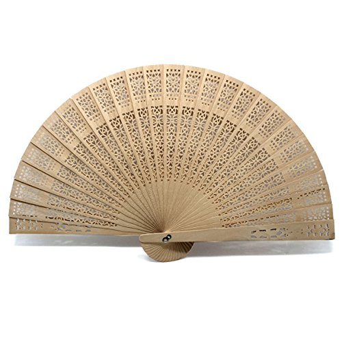 Mcupper-Chinese Sandalwood Fan (Set of 48 pcs) - Baby Shower Gifts & Wedding Favors (Wedding Favors Fans compare prices)