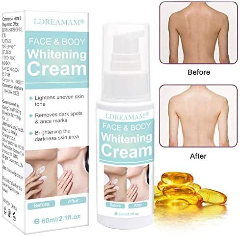 Skin Lightening Cream,Whitening Cream,Brightening Cream,Dark Spot Corrector for Face,Hyperpigmentation,Whitens, Nourishes, Repairs & Restores Skin