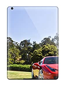 New Style Jeremy Myron Cervantes Hard Case Cover For Ipad Air- Red Sports Car On A Riverbank