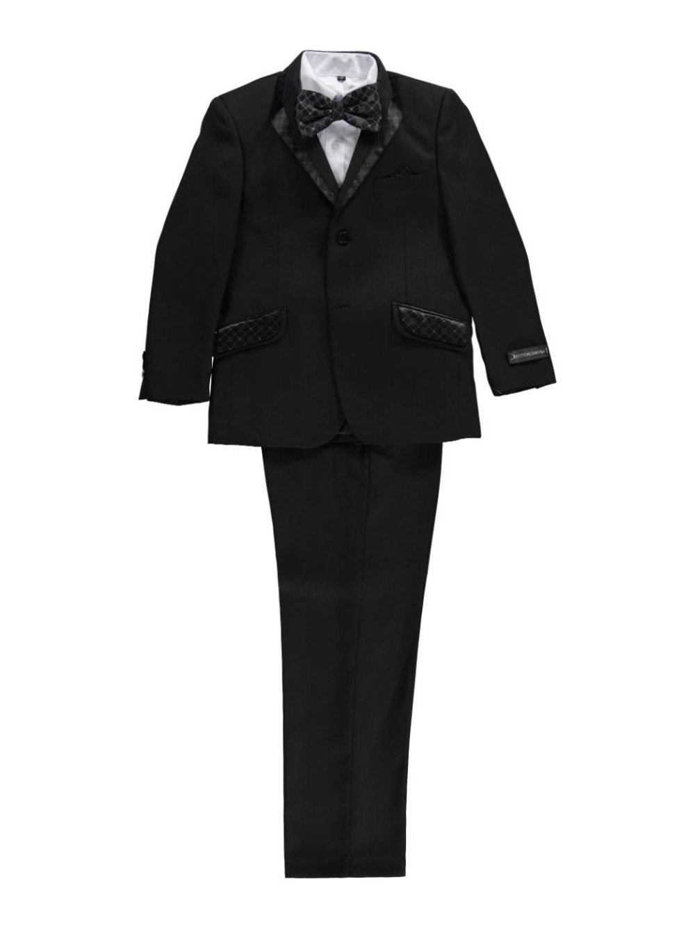 Kids World Big Boys' Ginsome 5-Piece Suit - Black, 20