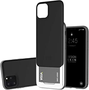 Slider Case for iPhone 11 Pro, Heavy Duty Bumper Protection Wallet with Card Storage Slider for Apple iPhone 11 P by Design Skin - Black
